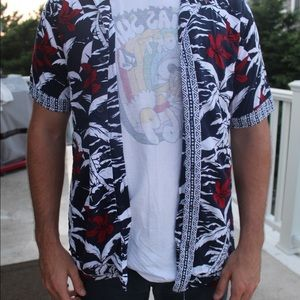 PAC sun blue/red Hawaiian shirt
